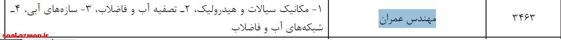 سوالات مهندس عمران وزارت نیرو