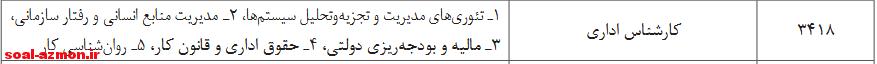 سوالات استخدامی کارشناس اداری وزارت نیرو